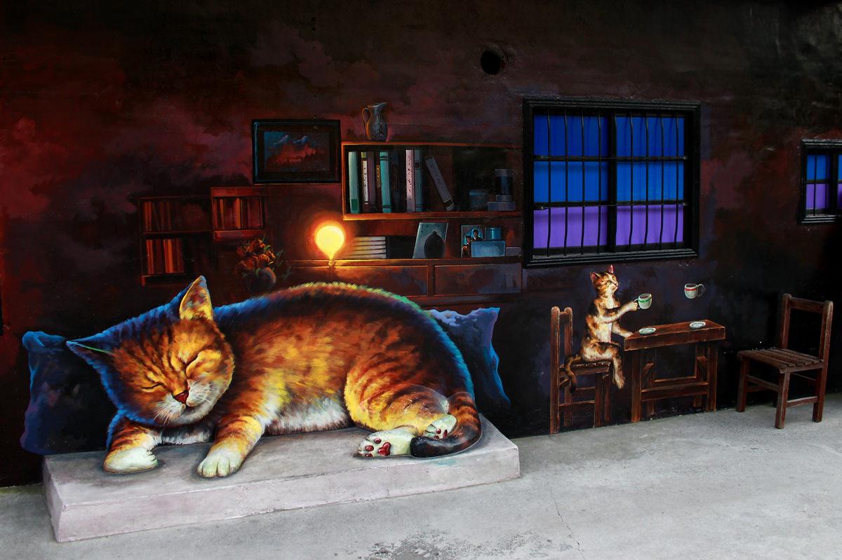 屋頂上的貓&貓咪小學堂-雲林包車景點推薦